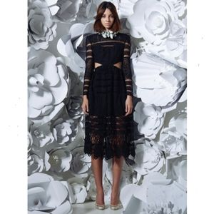 Asilio black A cut above midi dress